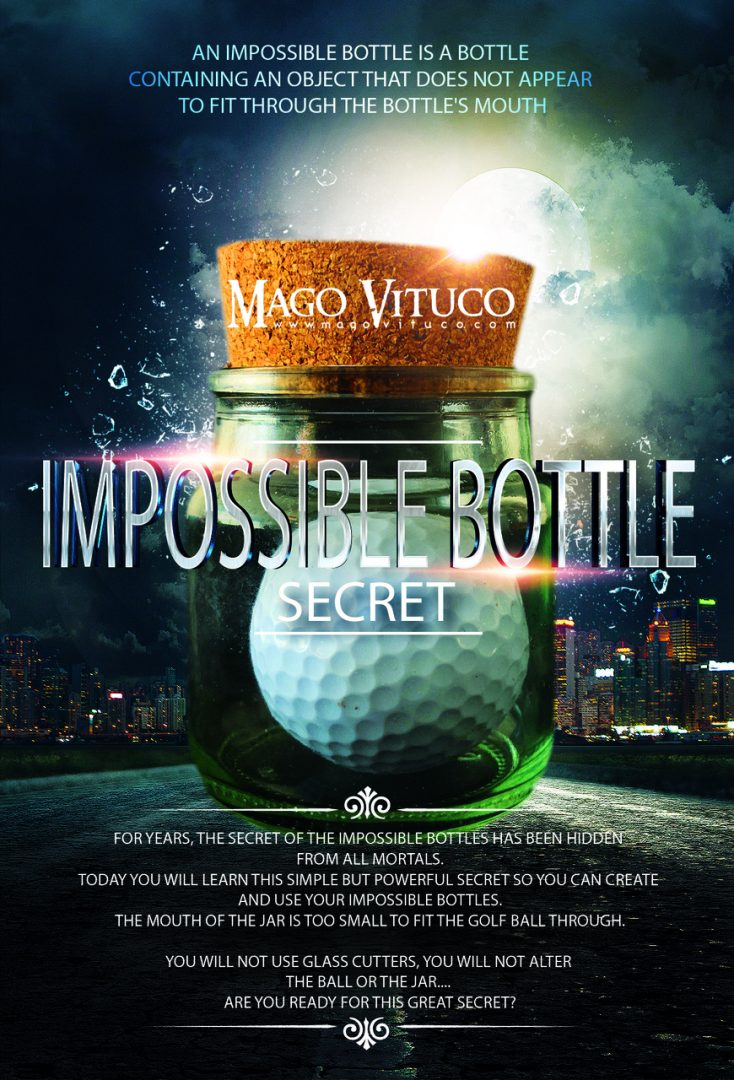 Impossible Bottle Secret by Mago Vituco (MP4 Video + PDF Download)