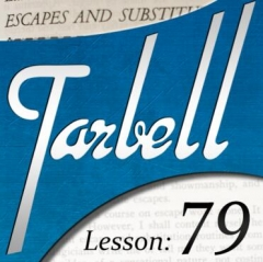 Tarbell 79 Escapes & Substitutions
