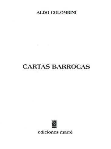 Aldo Colombini - Cartas Barrocas pdf download