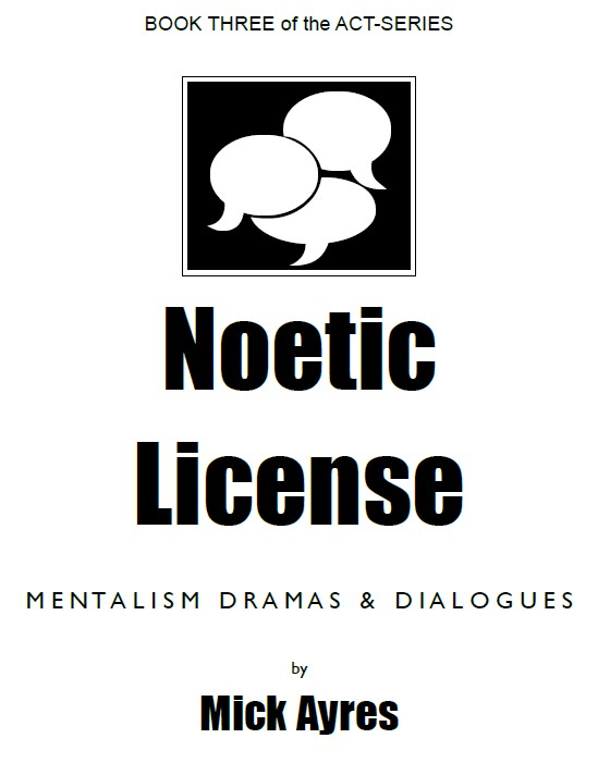Mick Ayres - Noetic License PDF